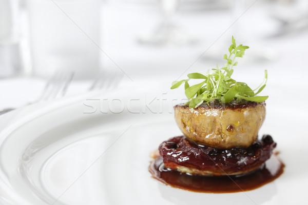 Vacsora főfogás körítés gurmé étterem barna Stock fotó © iofoto