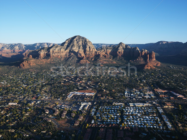 Sedona, Arizona aerial. Stock photo © iofoto