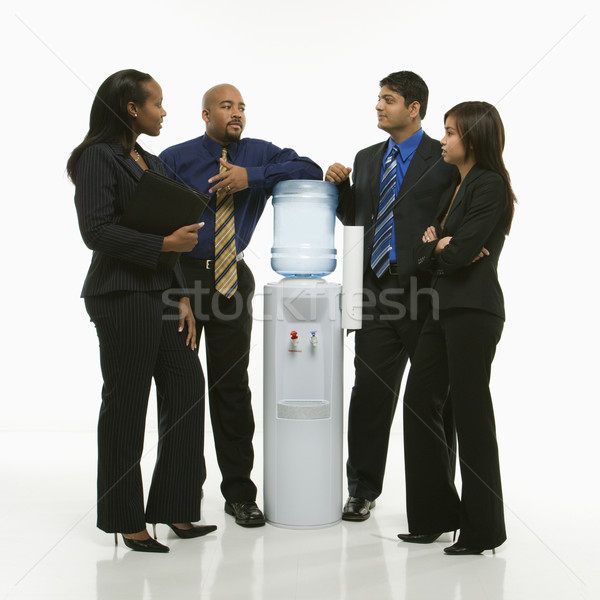 Group at water cooler. Stock photo © iofoto