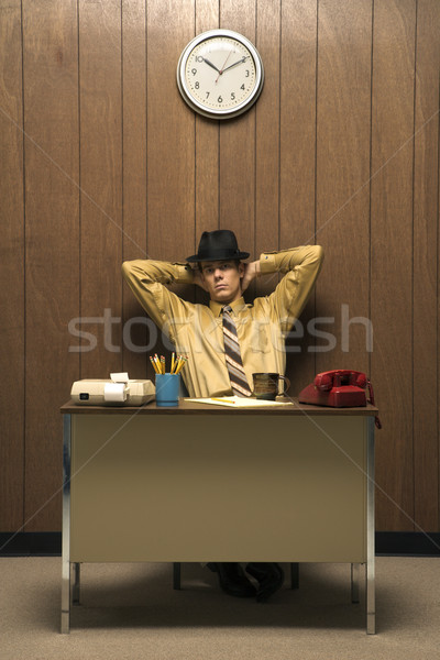 Man in retro office. Stock photo © iofoto