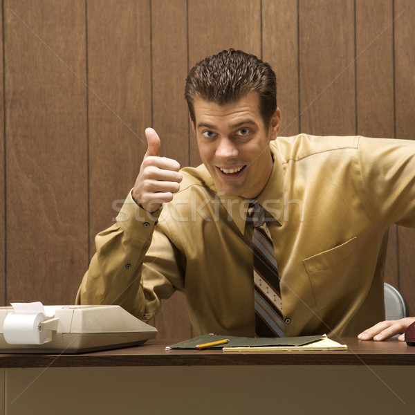 Happy businessman. Stock photo © iofoto