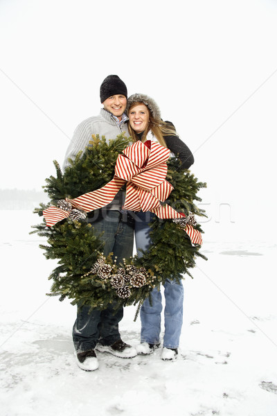 венок пару зима Сток-фото © iofoto