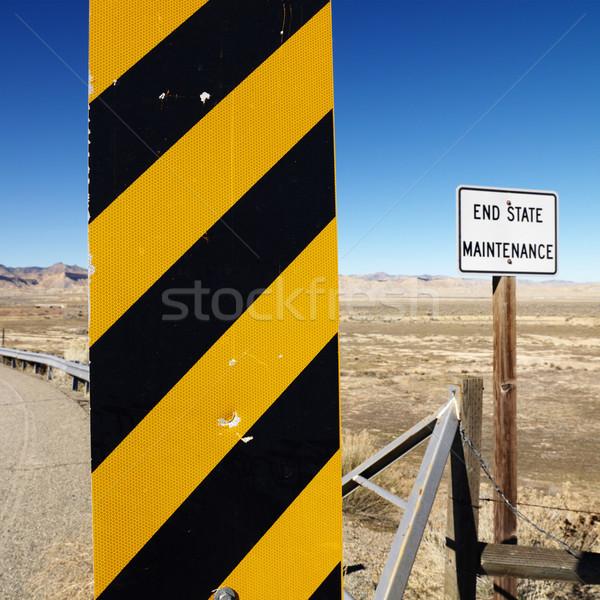 Foto stock: Precaución · senalización · de · la · carretera · amarillo · negro · signo · Utah