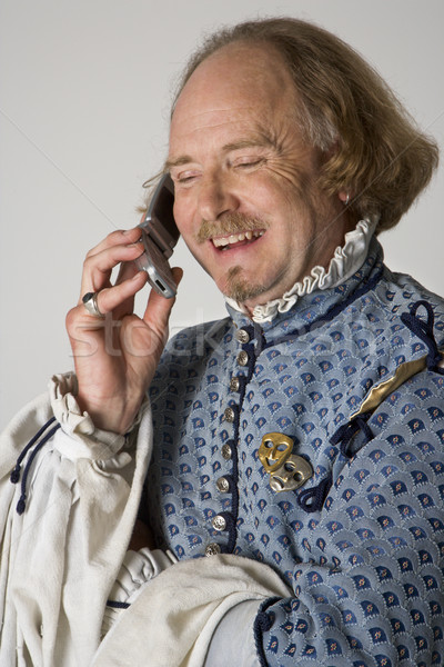 Shakespeare talking on  phone. Stock photo © iofoto
