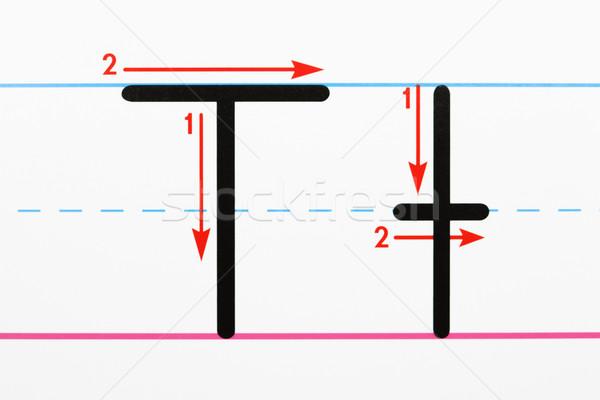 алфавит Дать практика почерк Сток-фото © iofoto
