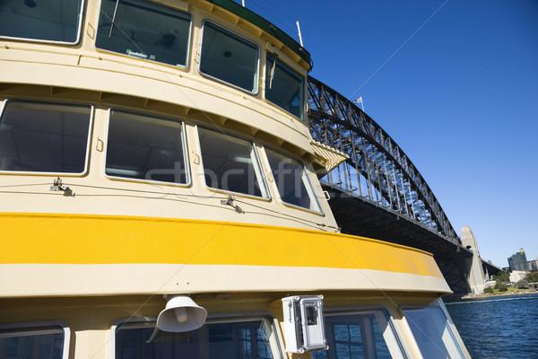 Ferry by bridge. Stock photo © iofoto