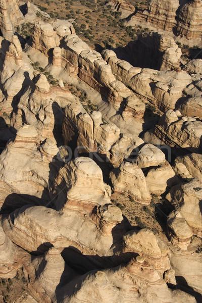 Antenne woestijn canyon zuidwest park Utah Stockfoto © iofoto