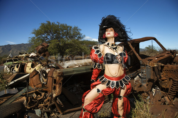 Woman in costume. Stock photo © iofoto