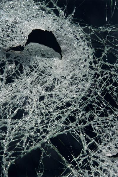 Cracked broken glass. Stock photo © iofoto