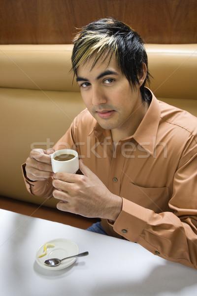 Man drinking expresso. Stock photo © iofoto