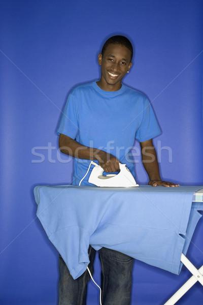 Teen garçon portrait souriant Photo stock © iofoto