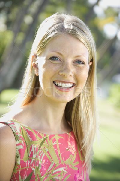 Frau lächelnd Erwachsenen Frauen Schönheit Porträt Stock foto © iofoto