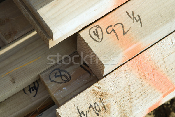 Ends of Lumber Stock photo © iofoto