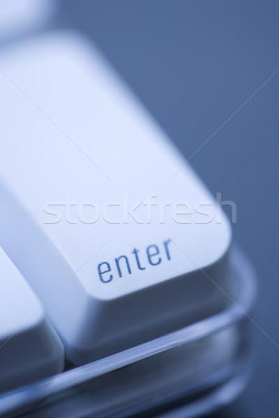 Belépés számítógép kulcs közelkép számítógép billentyűzet üzlet Stock fotó © iofoto