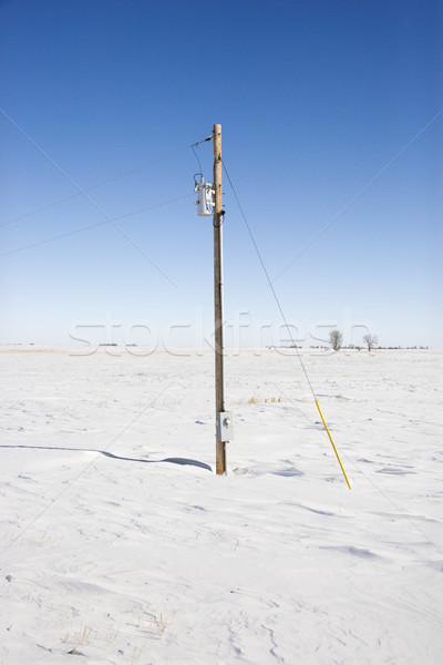 Power line and pole. Stock photo © iofoto