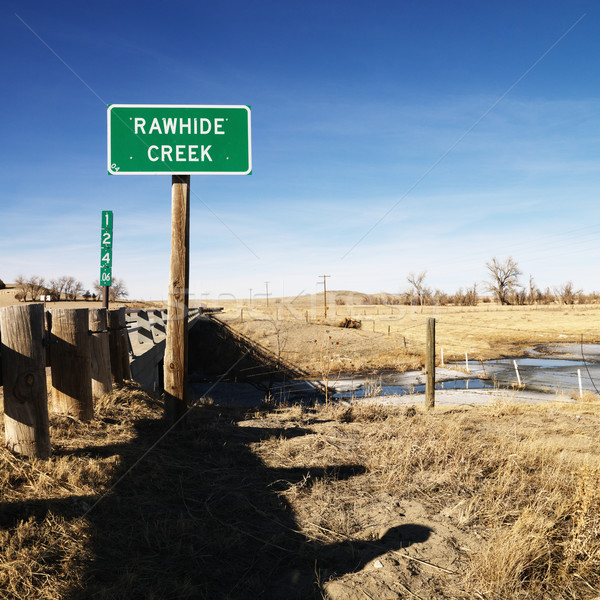 Rawhide creek sign. Stock photo © iofoto