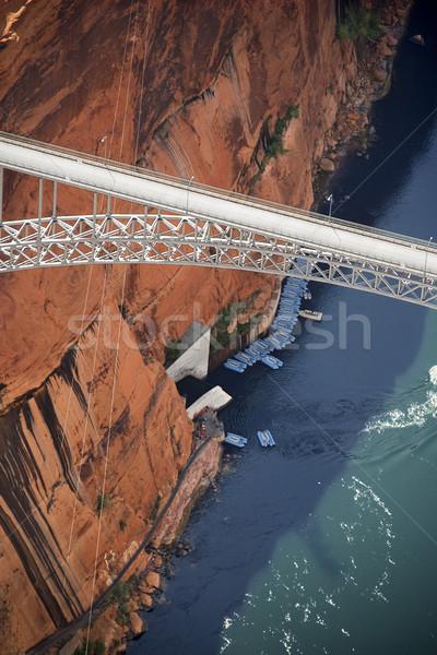 Glen Canyon Dam Bridge. Stock photo © iofoto