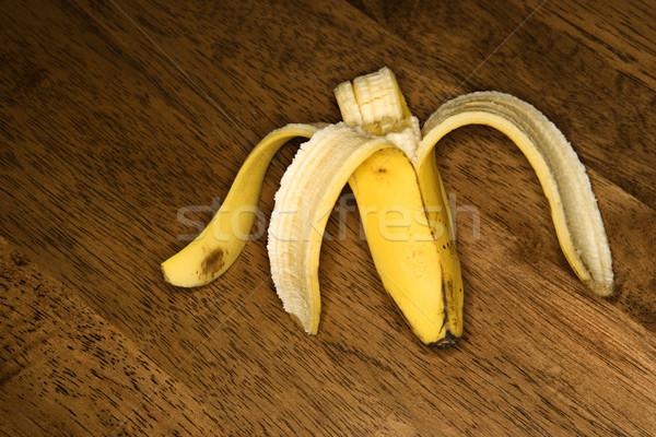 Half eaten banana. Stock photo © iofoto