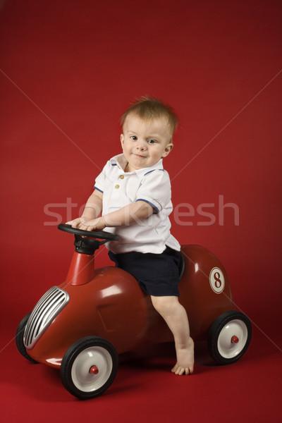 Spelen auto portret kaukasisch mannelijke Stockfoto © iofoto