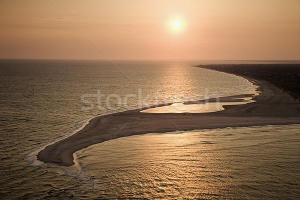 Beach in sunset. Stock photo © iofoto