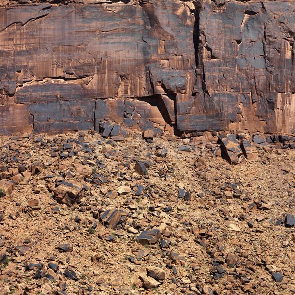 Rojo rock pared Utah primer plano naturaleza Foto stock © iofoto