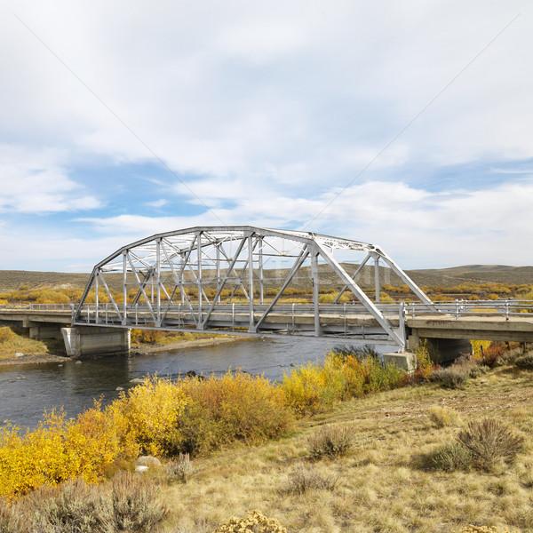 Puente corriente Wyoming paisaje río ingeniería Foto stock © iofoto