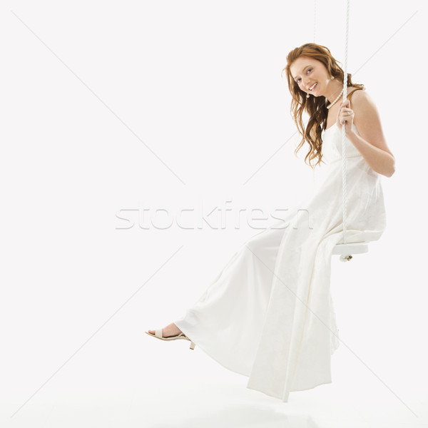Bride on swing set. Stock photo © iofoto