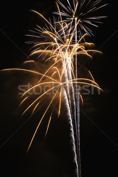Fireworks at night. Stock photo © iofoto