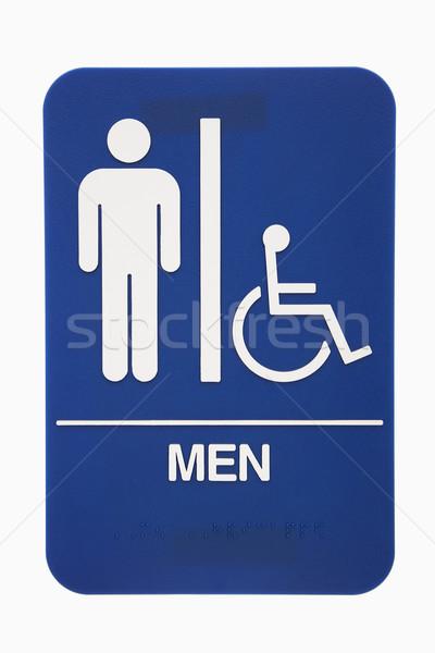Men restroom sign. Stock photo © iofoto