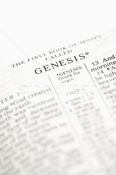 Bible open to Genesis. Stock photo © iofoto