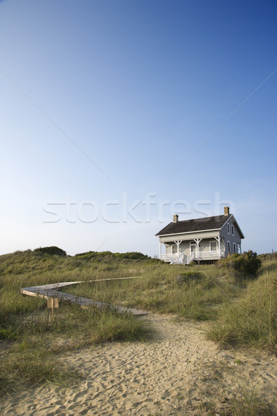 House with path to beach. Stock photo © iofoto