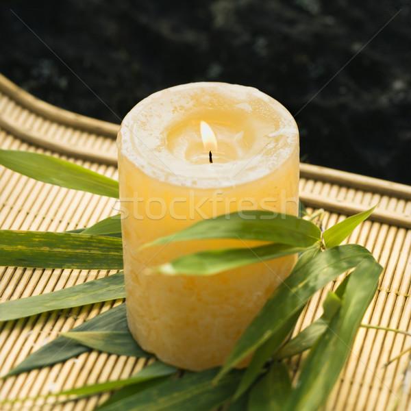 Burning candle. Stock photo © iofoto