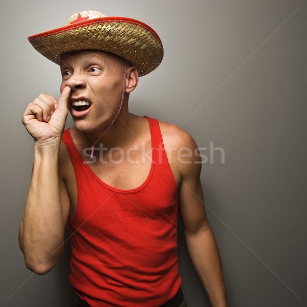 Man picking nose. Stock photo © iofoto