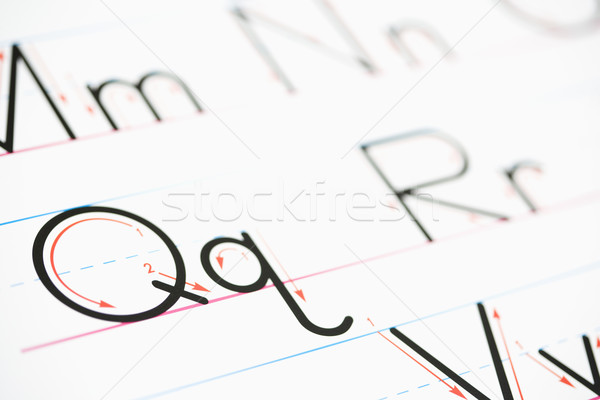 Alphabet handwriting. Stock photo © iofoto