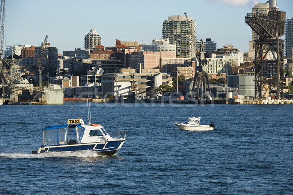 Water taxi Australië boot Sydney stad Stockfoto © iofoto