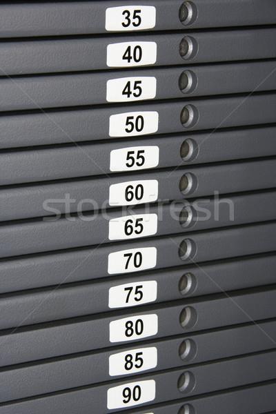 Weights on machine Stock photo © iofoto