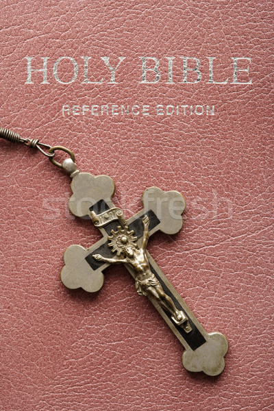 Holy Bible and crucifix. Stock photo © iofoto