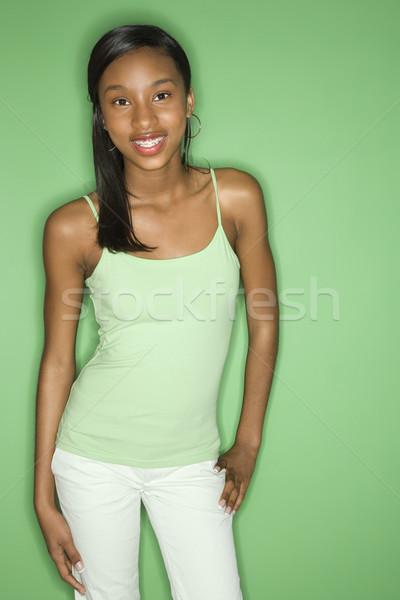 Pretty teenage girl. Stock photo © iofoto
