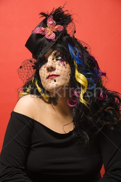 Portrait of unique  woman. Stock photo © iofoto