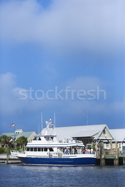 Stock photo: Ferry boat on Bald Head Island.