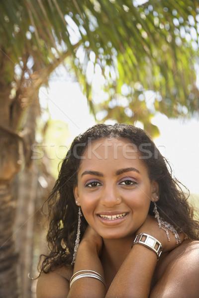 Retrato sorrindo africano americano feminino sorridente Foto stock © iofoto