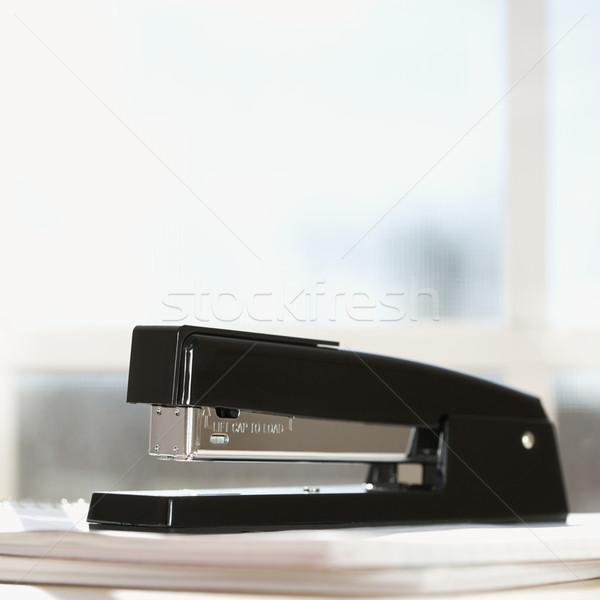 黒 ホッチキス ウィンドウ ビジネス 紙 色 ストックフォト © iofoto