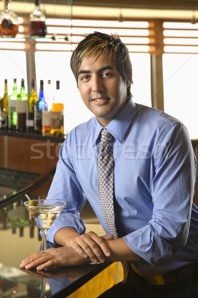 Uomo bar ritratto ispanico adulto Foto d'archivio © iofoto