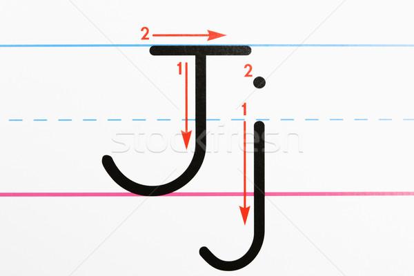 ábécé gyakorlat közelkép levél kézírás oldal Stock fotó © iofoto