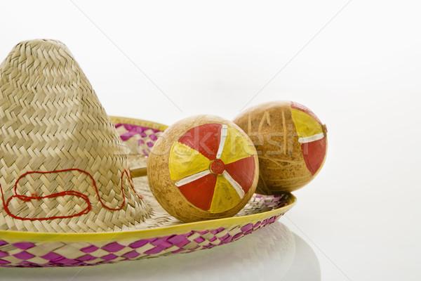 Maracas and sombrero. Stock photo © iofoto
