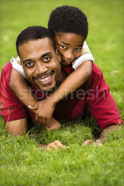 Father and son playing Stock photo © iofoto