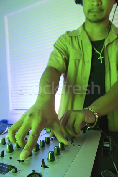 Man using audio equipment. Stock photo © iofoto