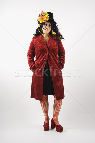Stock photo: Portrait of unique woman.