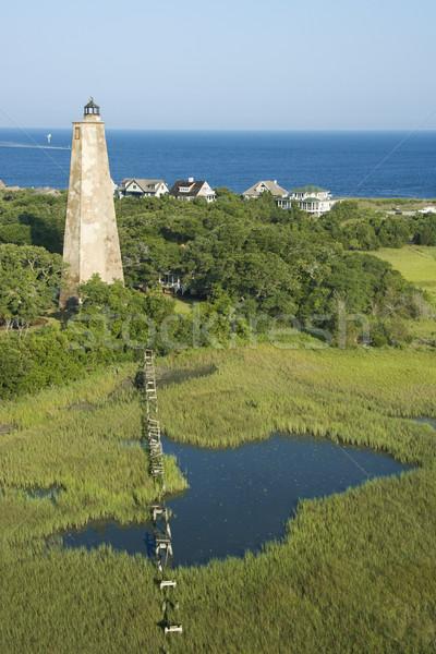 Lighthouse in marsh. Stock photo © iofoto