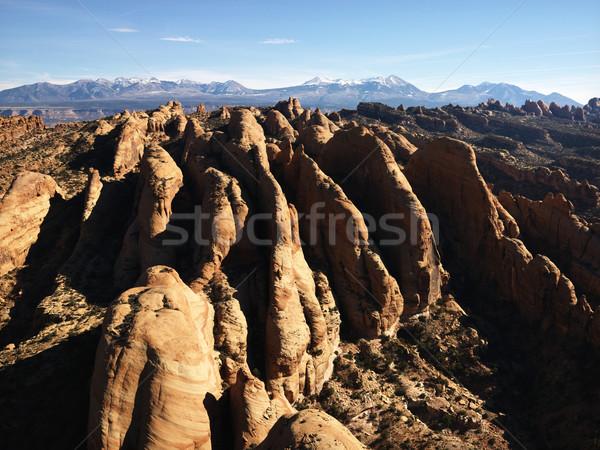 Utah rock widok z lotu ptaka czerwony kolor odkryty Zdjęcia stock © iofoto